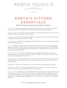 GWYG Kitchen Essentials Image